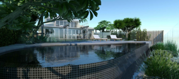 2D Pool Design Pittwater Rd Narrabeen